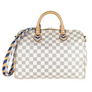Louis Vuitton Blue Braided Speedy Bandouliere 30 Satchel